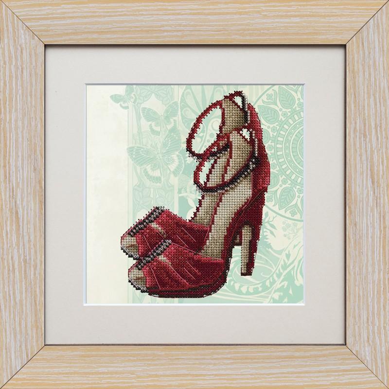 """Набір для вишивки на полімерній перфорованій основі Perfostitch """"Рубінова колекція. Танець пристрасті"""""""