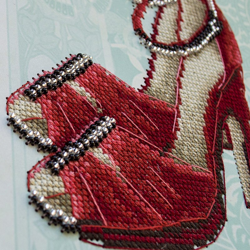 """Nova Sloboda - Набір для вишивки на полімерній перфорованій основі Perfostitch """"Рубінова колекція. Танець пристрасті"""" / фото №2035"""