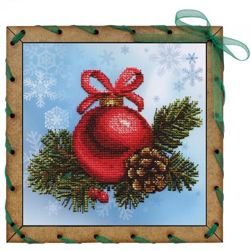 """Наборы для вышивки на полимерной перфорированной основе Perfostitch """"Новогодний шарик"""""""