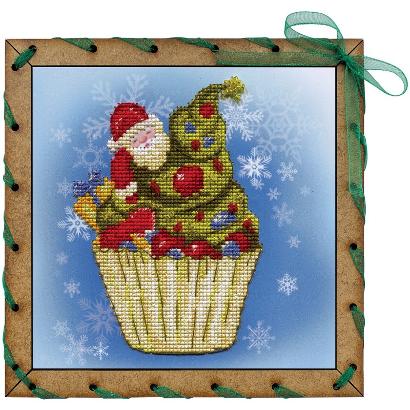 """Набір для вишивки на полімерній перфорованій основі Perfostitch """"Різдвяне тістечко"""""""