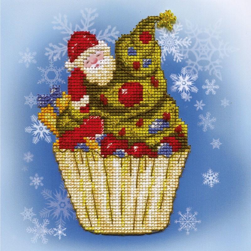 """Nova Sloboda - Набір для вишивки на полімерній перфорованій основі Perfostitch """"Різдвяне тістечко"""" / фото №2068"""