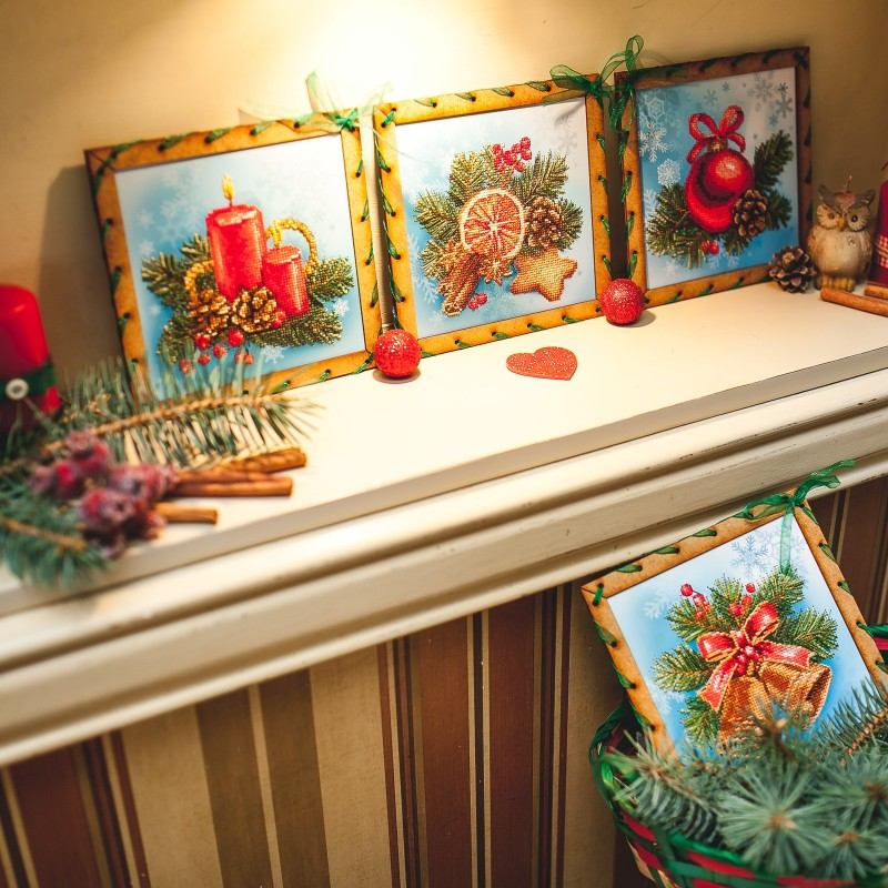 """Nova Sloboda - Набір для вишивки на полімерній перфорованій основі Perfostitch """"Різдво"""" / фото №2074"""