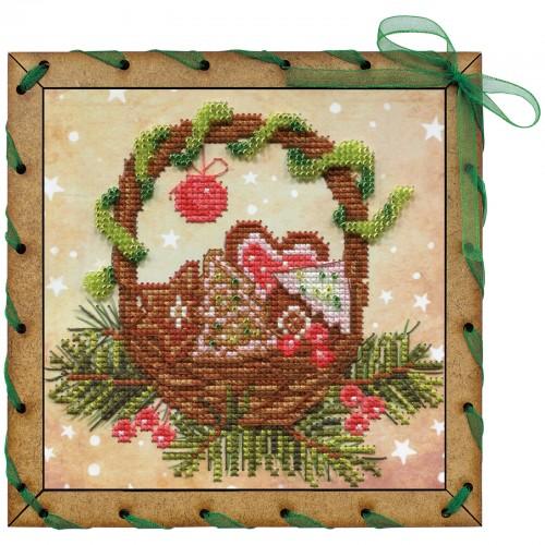 """Набір для вишивки на полімерній перфорованій основі Perfostitch """"Різдвяні солодощі"""""""