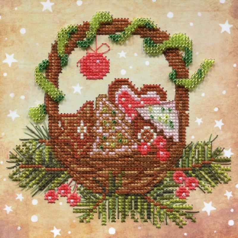 """Nova Sloboda - Набір для вишивки на полімерній перфорованій основі Perfostitch """"Різдвяні солодощі"""" / фото №2104"""