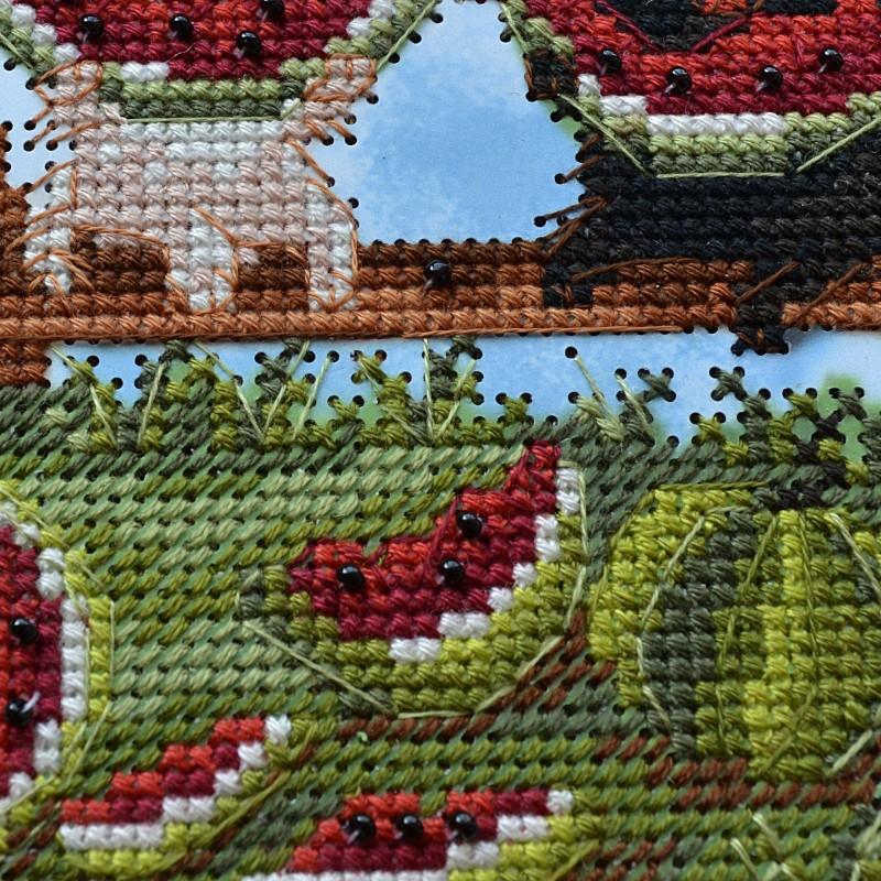 """Nova Sloboda - Набір для вишивки на полімерній перфорованій основі Perfostitch """"Кавунове щастя"""" / фото №2117"""