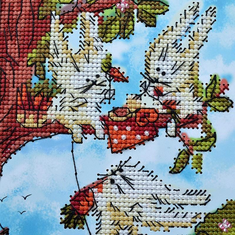 """Nova Sloboda - Набір для вишивки на полімерній перфорованій основі Perfostitch """"Морквяний обід"""" / фото №2135"""