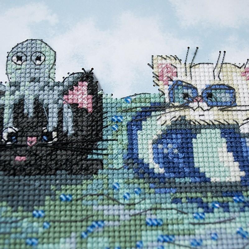"""Nova Sloboda - Набір для вишивки на полімерній перфорованій основі Perfostitch """"На відпочинку"""" / фото №2142"""