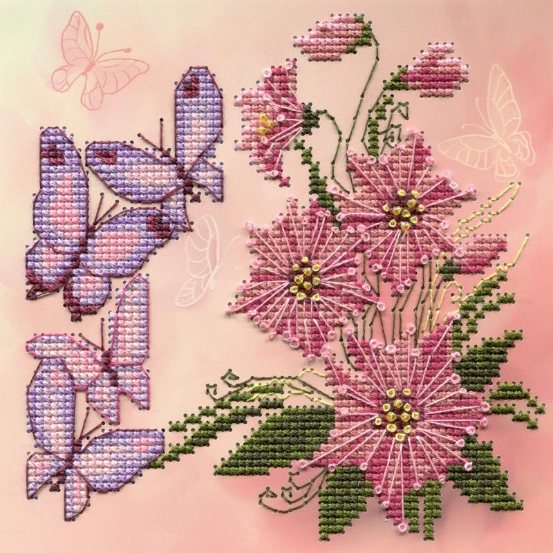 """Nova Sloboda - Набір для вишивки на полімерній перфорованій основі Perfostitch """"Запашні квіти """" / фото №2163"""