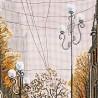 """Набір для вишивки нитками на канві з фоновим зображенням """"Після дощу"""""""