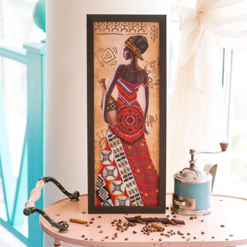 """Nova Sloboda - Набір для вишивки бісером """"Африканка з кувшином"""" / фото №2195"""