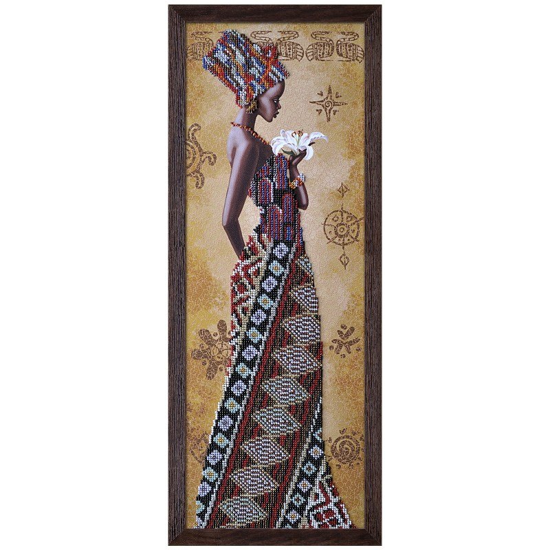 """Набір для вишивки бісером """"Африканка з лілеєю"""""""