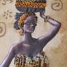 """Набір для вишивки бісером """"Африканка з фруктами"""""""