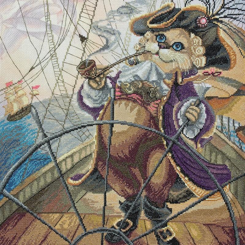 """Nova Sloboda - Набір для вишивки нитками на канві з фоновим зображенням """"Капітан"""" / фото №222"""