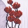 """Набір для вишивки бісером """"Червоні квіти"""""""