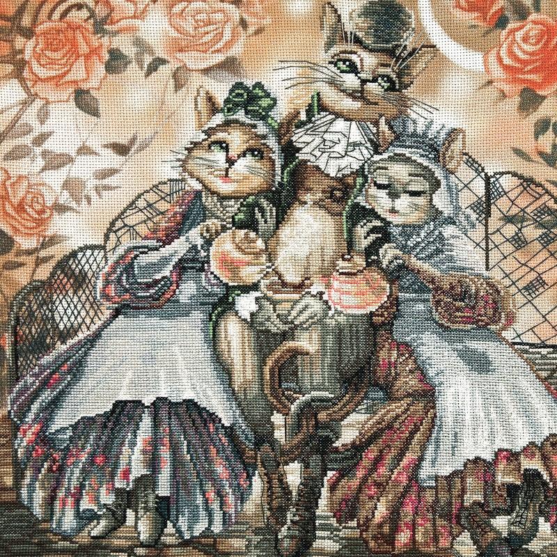 """Nova Sloboda - Набір для вишивки нитками на канві з фоновим зображенням """"Дружнє сімейство"""" / фото №225"""