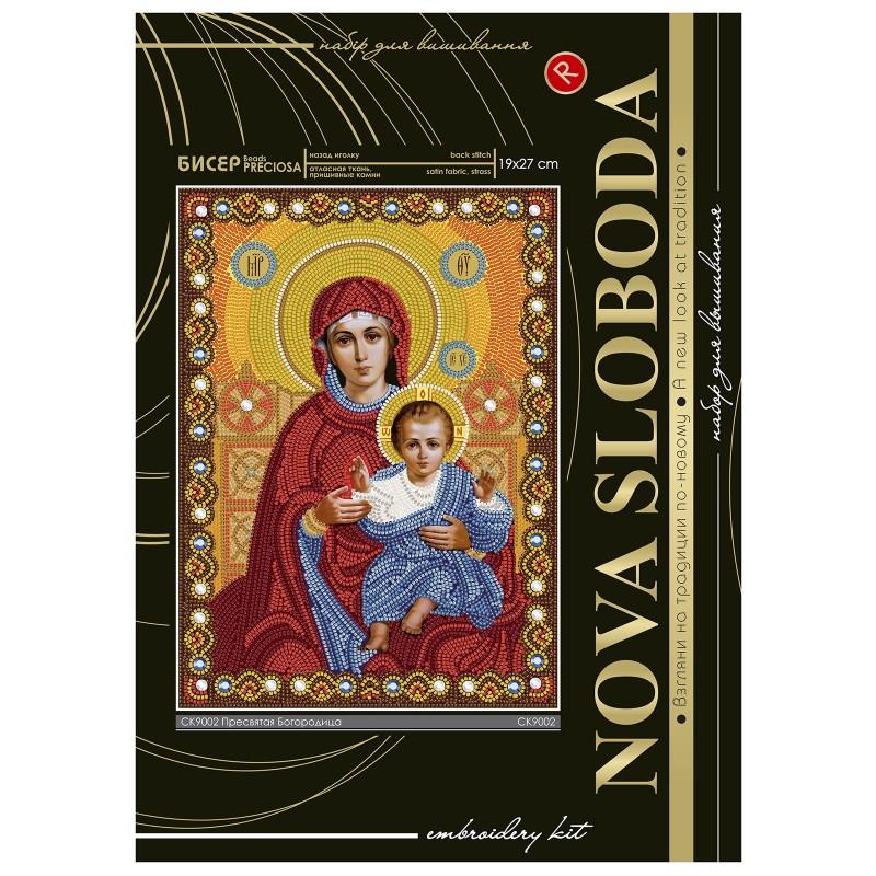"""Nova Sloboda - Набiр для вишивання iкони """"Богородиця Леушинська"""" / фото №2282"""
