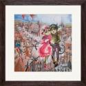 """Набір для вишивки нитками на канві з фоновим зображенням """"Кохання у Парижі"""""""