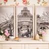 """Набор для вышивки нитками на канве с фоновым изображением """"Париж - город любви. Юность"""""""