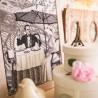 """Набір для вишивки нитками на канві з фоновим зображенням """"Париж - місто кохання. Зрілість"""""""