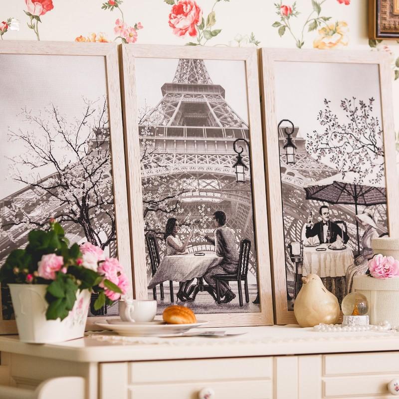 """Nova Sloboda - Набір для вишивки нитками на канві з фоновим зображенням """"Париж - місто кохання. Зрілість"""" / фото №2314"""