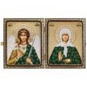 """Набір для вишивки ікони в рамці-складні """"Св. Прав. Стариця Матрона Московська і Ангел Хранитель"""""""