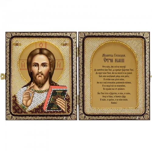 """Набор для вышивки иконы в рамке-складне """"Христос Спаситель"""""""