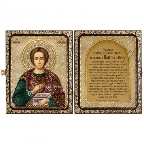 """Набір для вишивки ікони в рамці-складні """"Св.Великомученик і Цілитель Пантелеймон"""""""
