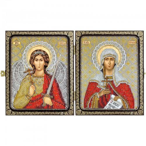 """Набір для вишивки ікони в рамці-складні """"Св.Мц.Тетяна (Татіана) Римська і Ангел Хранитель"""""""