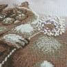 """Набір для вишивки нитками на канві з фоновим зображенням """"Тяжіння"""""""