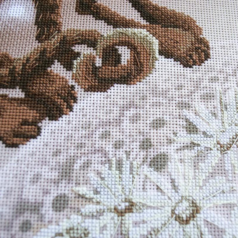"""Nova Sloboda - Набір для вишивки нитками на канві з фоновим зображенням """"Тяжіння"""" / фото №244"""