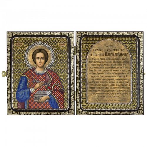 """Набор для вышивки иконы в рамке-складне """"Св. Великомученик и Целитель Пантелеймон"""""""