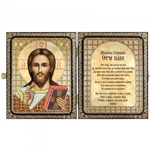 """Набір для вишивки ікони в рамці-складні """"Христос Спаситель"""""""