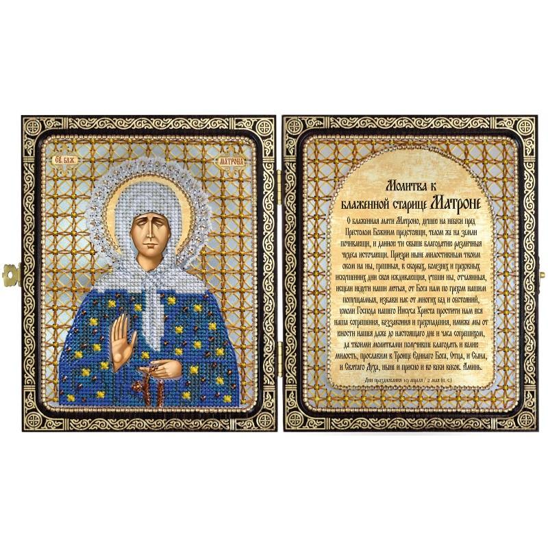 """Набор для вышивки иконы в рамке-складне """"Св. Прав. старица Матрона Московская"""""""
