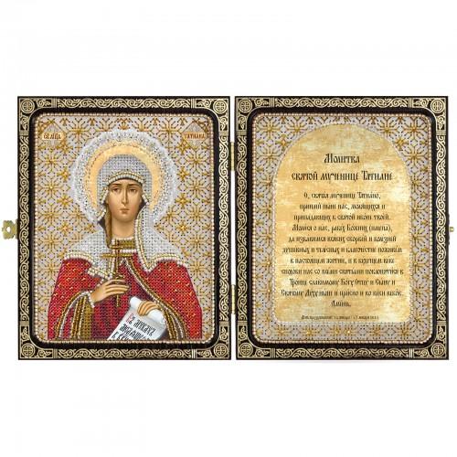 """Набір для вишивки ікони в рамці-складні """"Св.Мц.Тетяна (Татіана) Римська"""""""