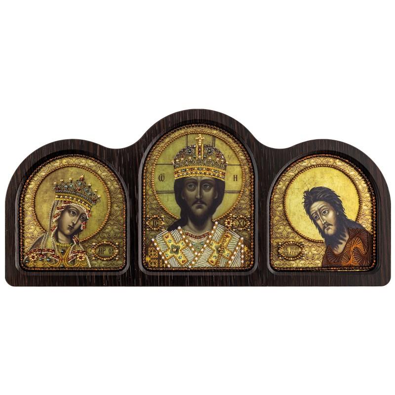 """Nova Sloboda - Набір для вишивки ікони у фігурній рамці """"Триптих Цар Царів"""" / фото №2498"""