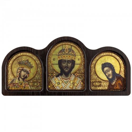 """Набір для вишивки ікони у фігурній рамці """"Триптих Цар Царів"""""""