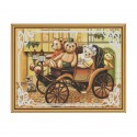 """Набор для вышивки нитками на канве с фоновым изображением """"Семейная поездка"""""""