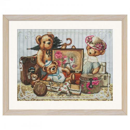 """Набор для вышивки нитками на канве с фоновым изображением """"Детские шалости"""""""