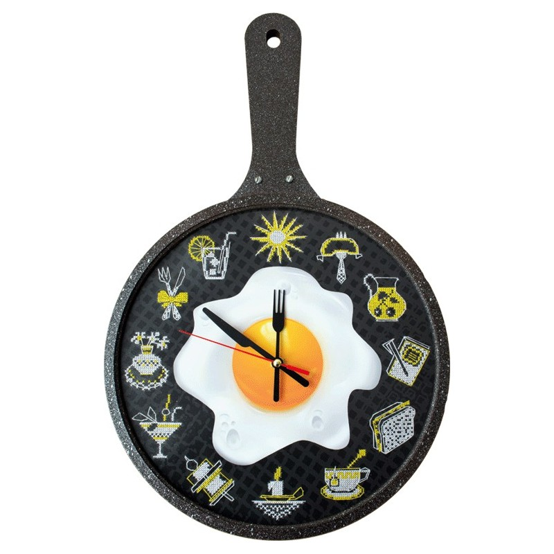 """Набор для создания часов на вышитой основе """"Время готовить!"""""""