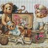 """Набір для вишивки нитками на канві з фоновим зображенням """"Дитячі пустощі"""""""