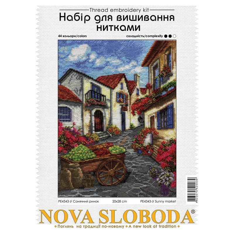 """Nova Sloboda - Набір для вишивки нитками на білій канві """"Перехрестя доріг"""" / фото №2571"""