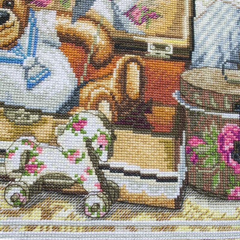 """Nova Sloboda - Набір для вишивки нитками на канві з фоновим зображенням """"Дитячі пустощі"""" / фото №258"""