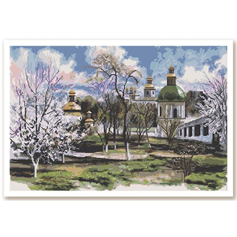 """Nova Sloboda - Набір для вишивки нитками на білій канві """"Перехрестя доріг"""" / фото №2600"""