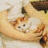 """Набір для вишивки нитками на канві з фоновим зображенням """"Кращі друзі"""""""