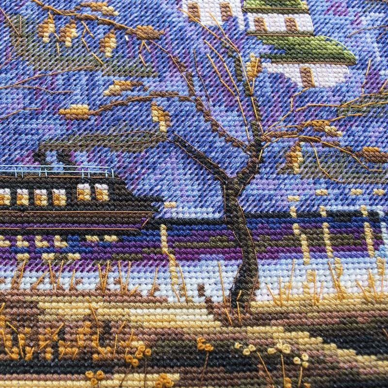 """Nova Sloboda - Набор для вышивки нитками на канве с нанесенным фоновым изображением """"Вечерний Киев"""" / фото №271"""