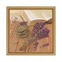"""Набор для вышивки нитками на канве с фоновым изображением """"Лавандовое настроение"""""""