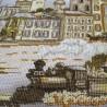 """Набір для вишивки нитками на канві з фоновим зображенням """"Міські нариси. Міські будні"""""""