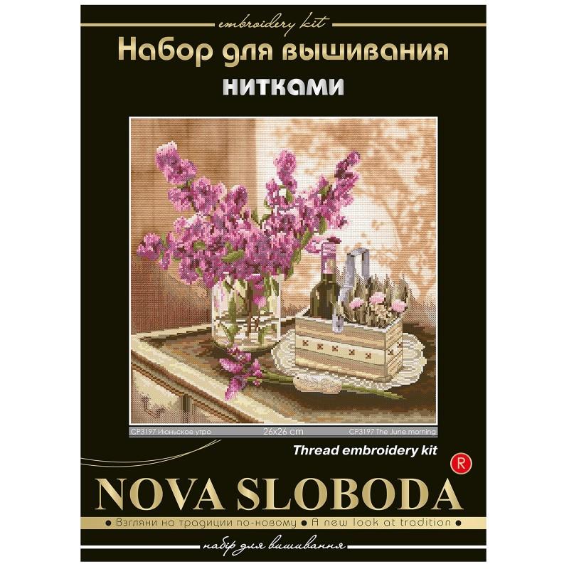 """Nova Sloboda - Набір для вишивки нитками на канві з фоновим зображенням """"Червневий ранок"""" / фото №285"""