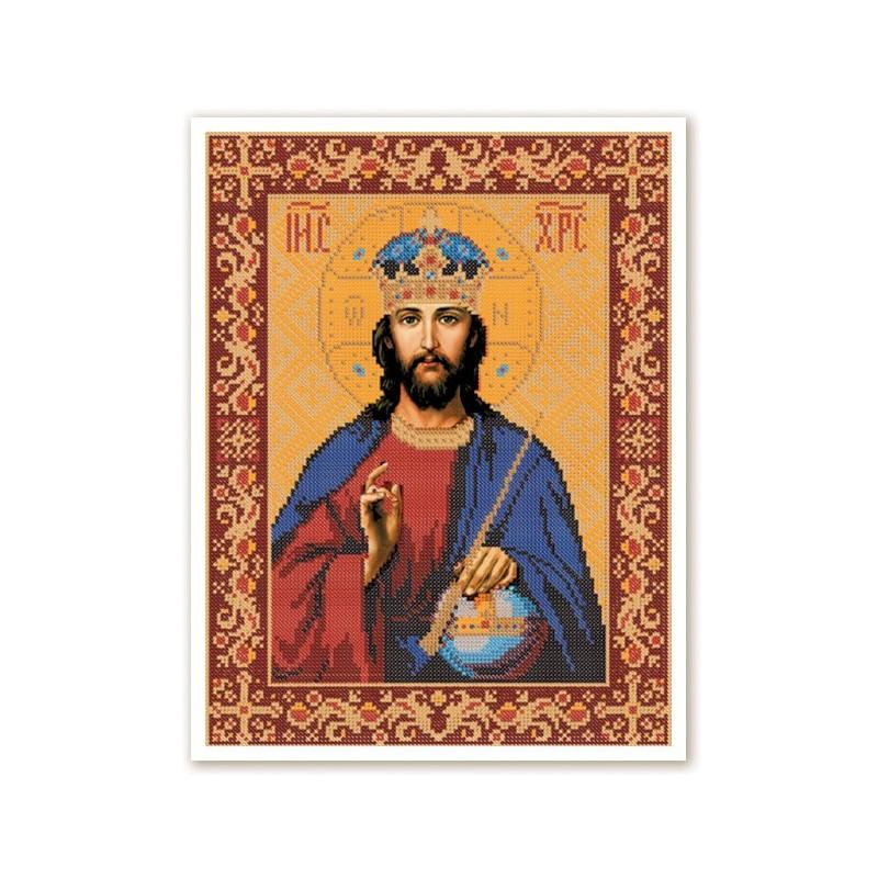 """Nova Sloboda - Тканина зi схемою для вишивки ікони бiсером """"Христос Спаситель"""" / фото №2852"""