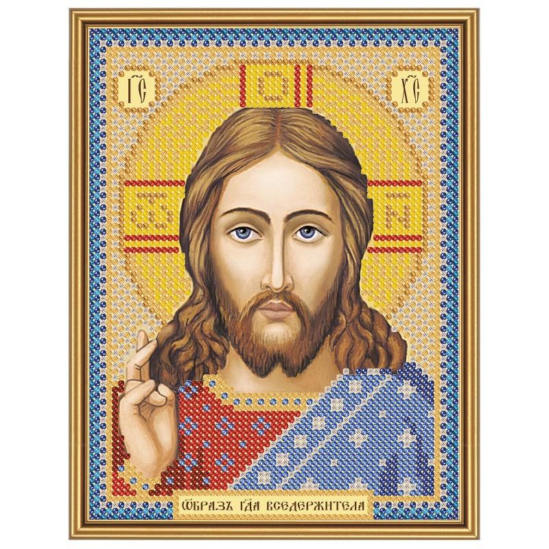"""Nova Sloboda - Тканина зi схемою для вишивки ікони бiсером """"Христос Спаситель"""" / фото №2866"""